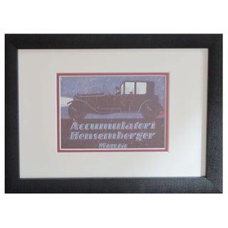 Framed Vintage Italian Automobile Advertisement