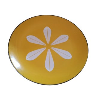 Mid-Century Catherine Holm Yellow Enamel Plate