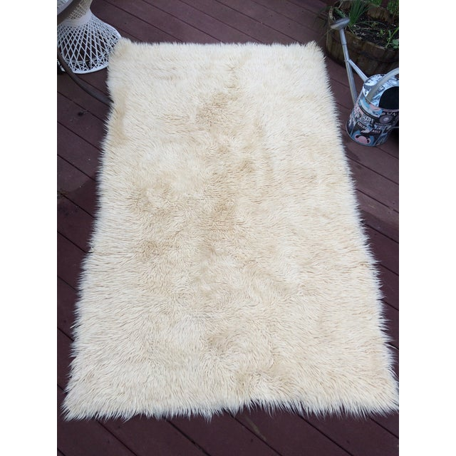 how to clean a flokati rug