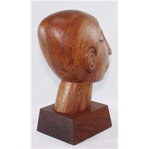 Vintage Mexican Modernist Wood Sculpture by Jose Pinal - Image 3 of 5