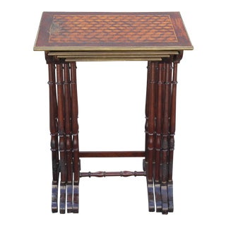 Antique Neoclassical Inlaid Nesting Tables - Set of 4