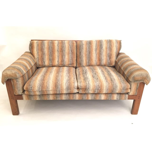 1970's Loveseat with Original Neutral Upholstery - Image 3 of 5