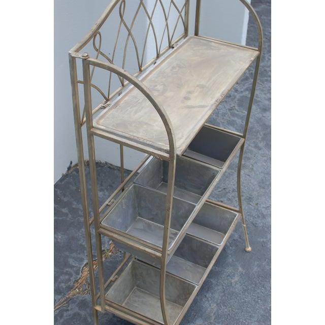 Metal Antique Planter Shelf - Image 5 of 5
