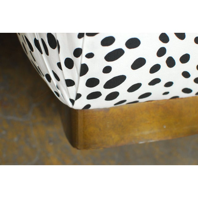 Image of Karl Springer Style Vintage Souffle Poufs - A Pair