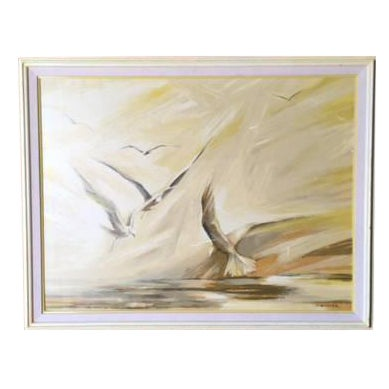 Vintage Large Bird Painting by B. Buckner - Image 1 of 5