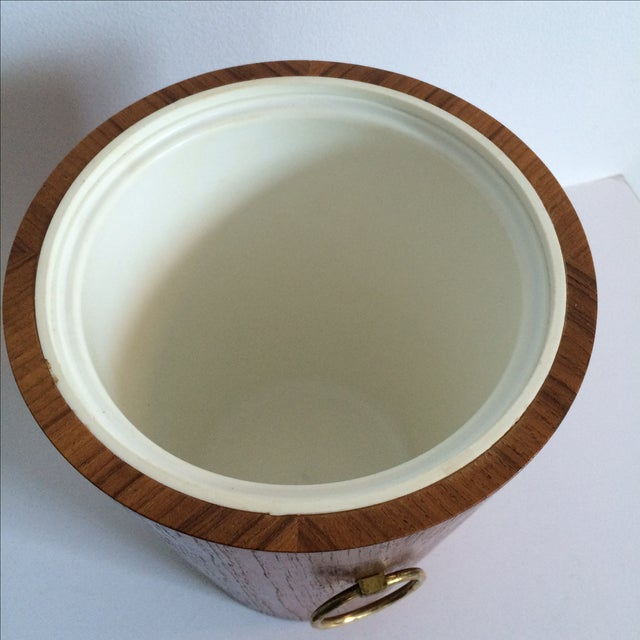 Image of Mid-Century Swedish Teak Ice Bucket