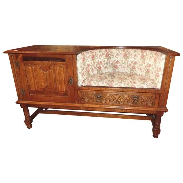 Edwardian Mid-Century Telephone Sofa Bench - Image 1 of 11