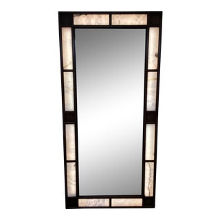 Lighted Alabaster Wall Mirror