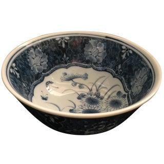 Chinoiserie Blue & White Porcelain Bowl