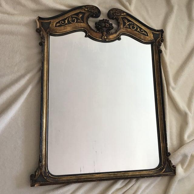Antique Ebonized Giltwood Mirror - Image 9 of 11