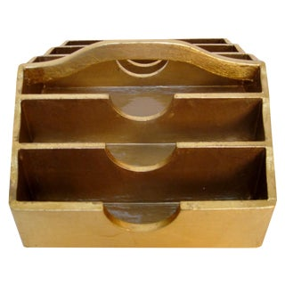 Gold Lacquered Flatware Caddy