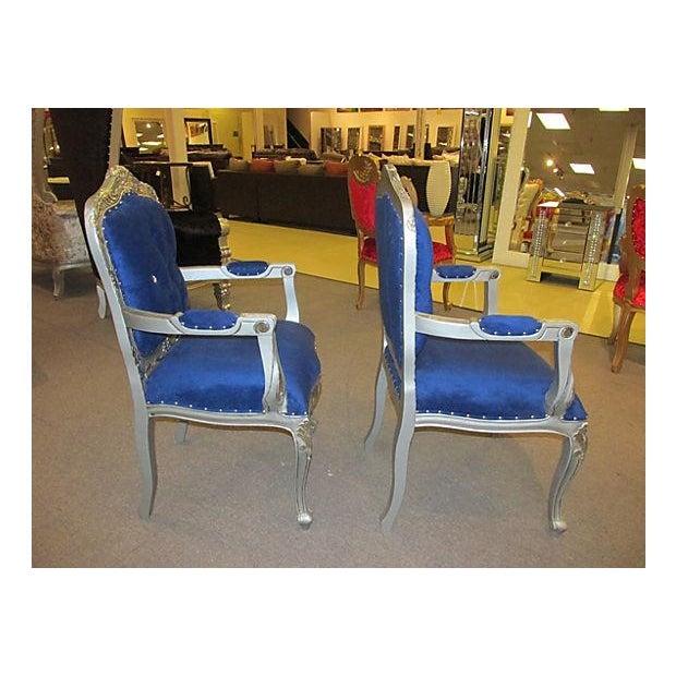 Mid-Century Velvet Armchairs - A Pair - Image 5 of 7
