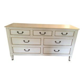 Hand Painted Glass Top Kindel Dresser