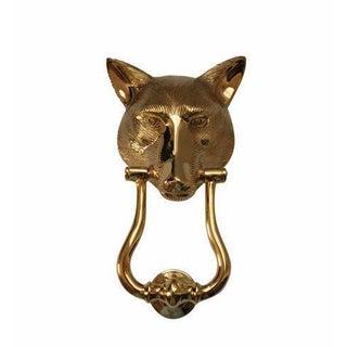 Solid Brass English Fox Head Door Knocker