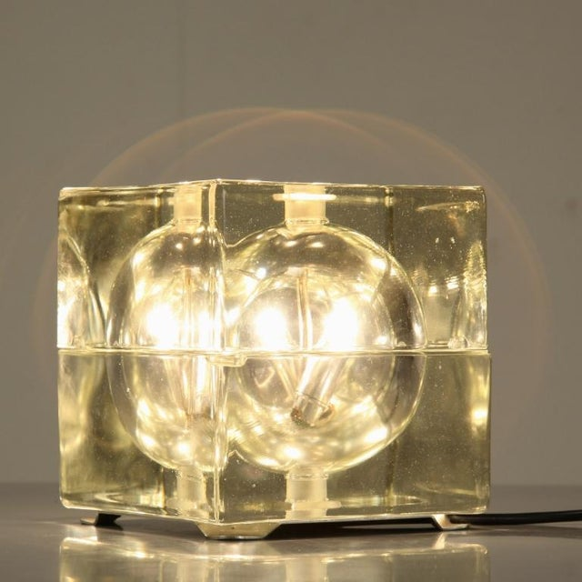 Image of Cubosfera Glass Table lamp by Alessandro Mendini, Italy, 1960s