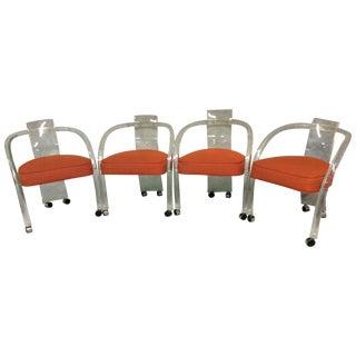 Mid Century Charles Hollis Jones Lucite Chairs