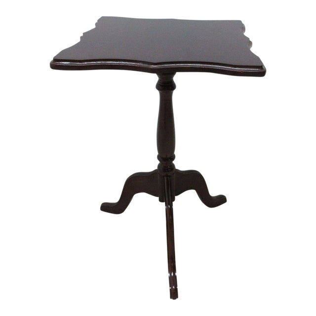 Bombay Company Cherry Lamp End Table Pedestal Stand - Image 1 of 11
