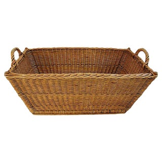 1940s French Willow/Wicker Market Basket