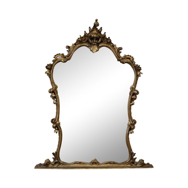 French Louis XV Carved Gilt Console Wall Mirror - Image 1 of 10