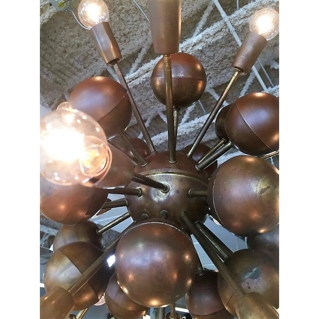 Vintage Brass Sputnik 20 Light Chandelier - Image 4 of 8