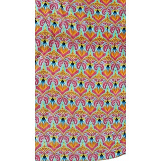 Vibrant Ikat Velvet Textile