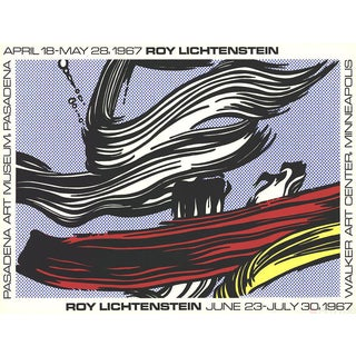 Roy Lichtenstein Brushstrokes at Pasadena Art Museum 1967 Serigraph Poster