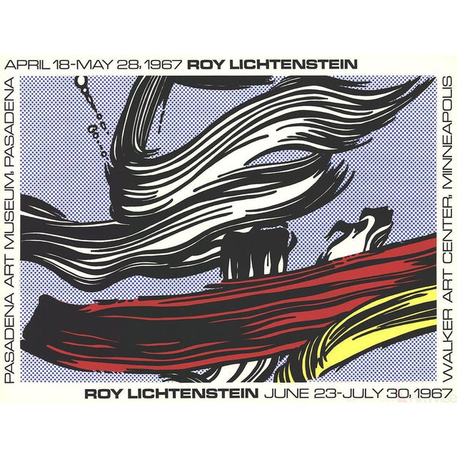 Roy Lichtenstein Brushstrokes at Pasadena Art Museum 1967 Serigraph Poster - Image 1 of 2
