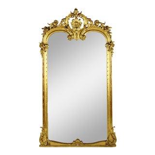 19th Century French Louis XVI Giltwood Frame Mirror