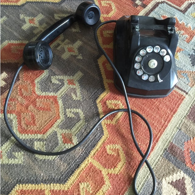 Vintage Rotary Dial Telephone Works! - Image 4 of 5