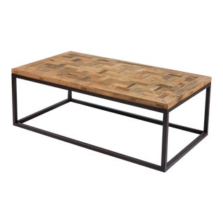 Sarreid Ltd Elm & Iron Coffee Table