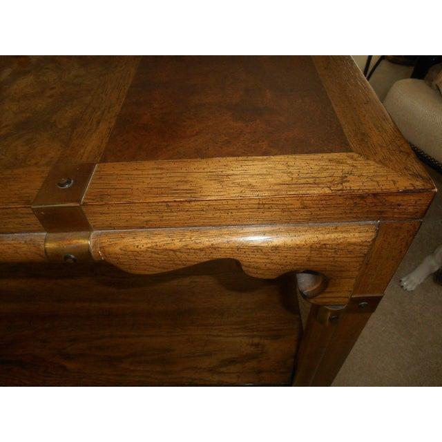 Mid-Century Mod Burled Walnut Console Table - Image 7 of 8
