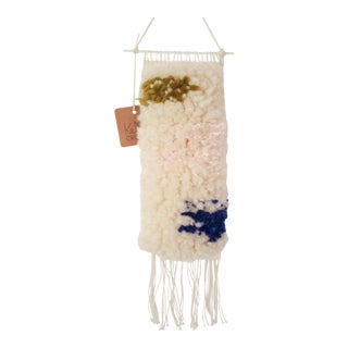 Handwoven Olive, Pink, & Indigo Wall Hanging