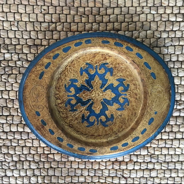Made in Italy Florentine Small Tray Wooden Dish - Image 2 of 10