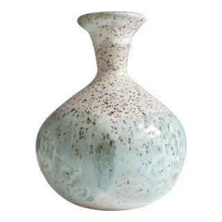 Small Mint Green Ceramic Studio Pottery Bud Vase
