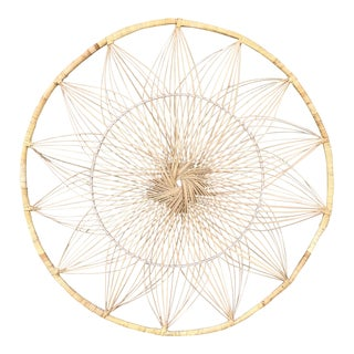 Rattan Sunburst Wall Hanging