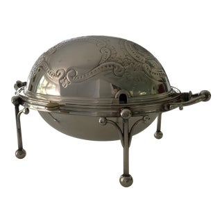 William Hutton & Sons Domed Silver Warming Dish