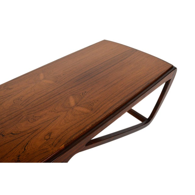 Danish Style Coffee Table: Danish Modern Ostervig Style Rosewood Coffee Table