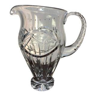 Victorian Etched Crystal Lemonade Pitcher