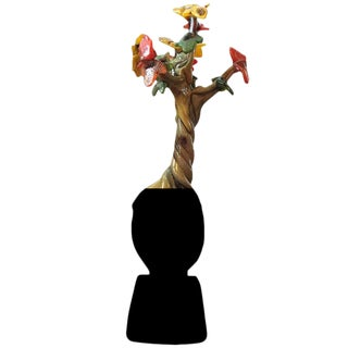 "Handblown Glass Tree Head ""Fall"" Sculpture"