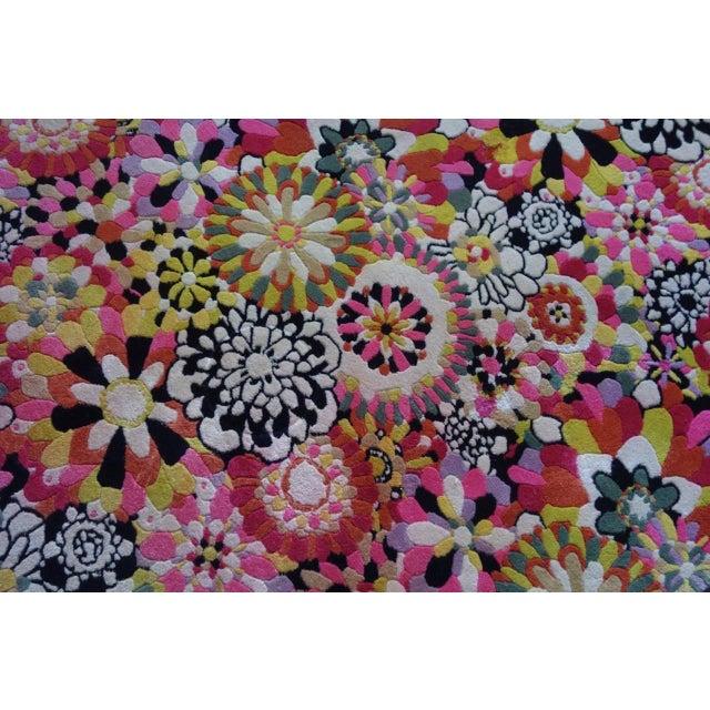 "Wool Missoni Rug - 6'8"" X 6'8"" - Image 7 of 8"