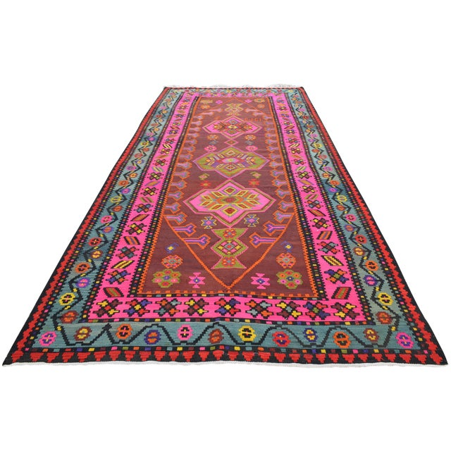 Anatolia Turkish Kilim Rug - 6′6″ × 14′2″ - Image 1 of 10