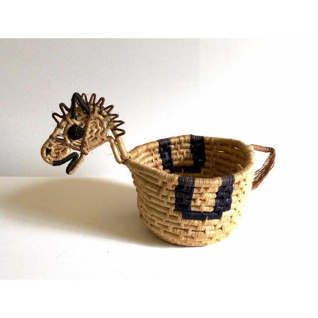 Image of Native American Zebra Effigy Basket