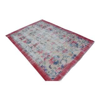 Handmade Turkish Wool Carpet - 7′ × 9′3″