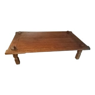 Indonesian Teak Wood Weaving Table