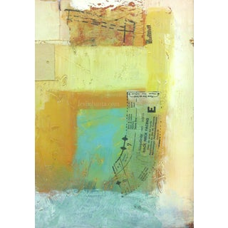 Composition Neck Facing Oil & Collage Painting
