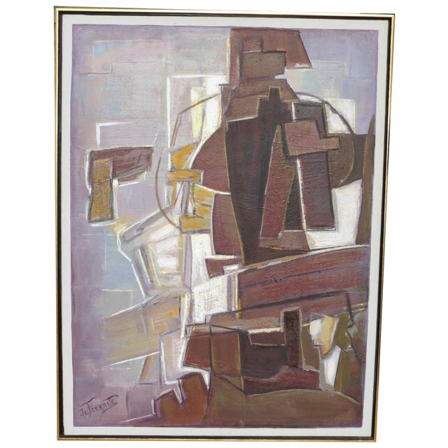 Mario De Ferrante Abstract Oil On Canvas Painting - Image 1 of 9