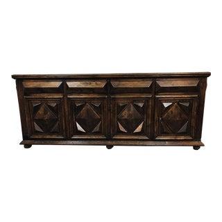 Antique Jacobean Oak Sideboard Cabinet