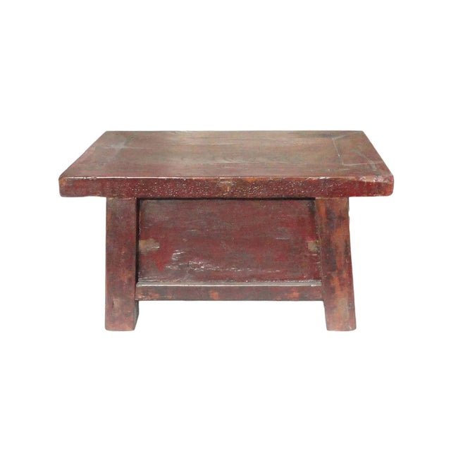 Chinese Old Rustic Small Low Chest Table - Image 5 of 6
