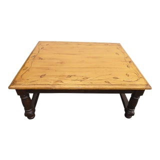 Woodland Square Floral Motif Coffee Table