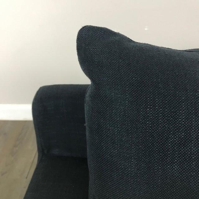 Modern Navy Chaise Lounge Sofa - Image 7 of 11